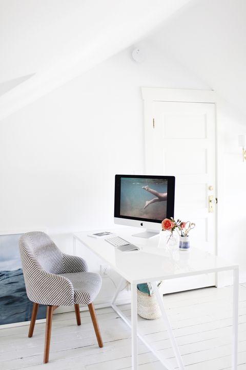 ایده های طراحی اتاق کار در منزل - بهره وری مناسب از نور در اتاق کار