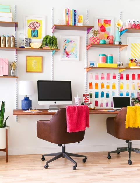 ایده های طراحی اتاق کار در منزل - صرفه جویی در فضا