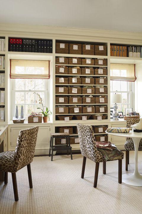 ایده های طراحی اتاق کار در منزل - طراحی روستیک دفتر خانه