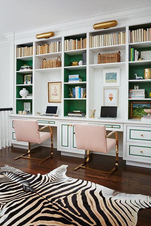 ایده های طراحی اتاق کار در منزل - طراحی فانتزی و مدرن دفتر کار
