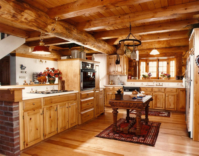 Rustic Home Decorating Ideas Wood Kitchen
